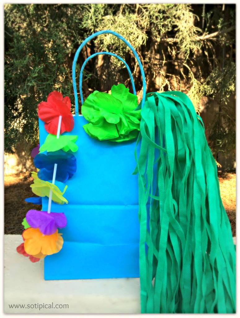 luau kids birthday party bag