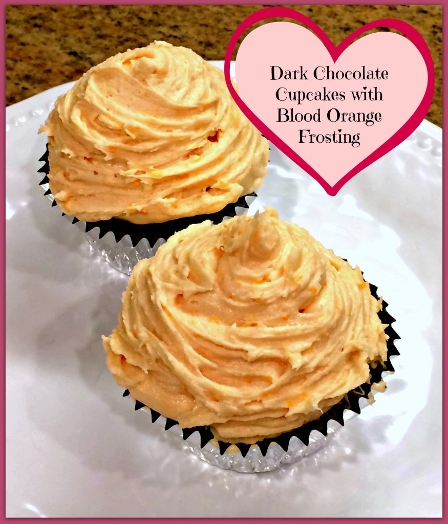 Dark Chocolate Cupcakes With Blood Orange Frosting