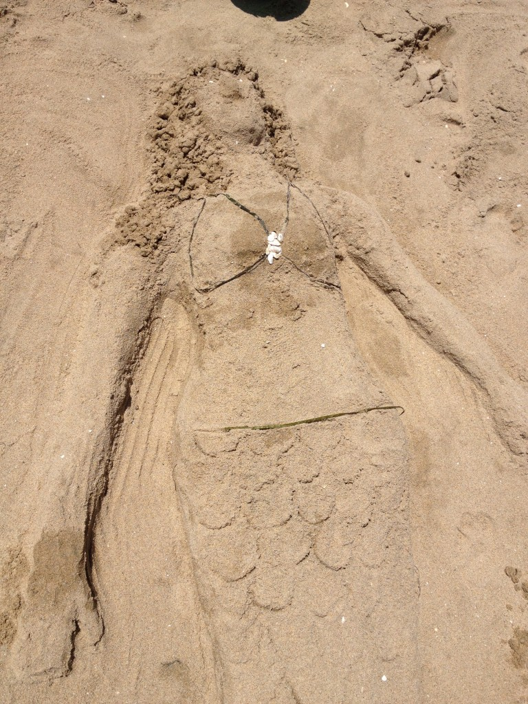 sand mermaid 25 summer fun ideas