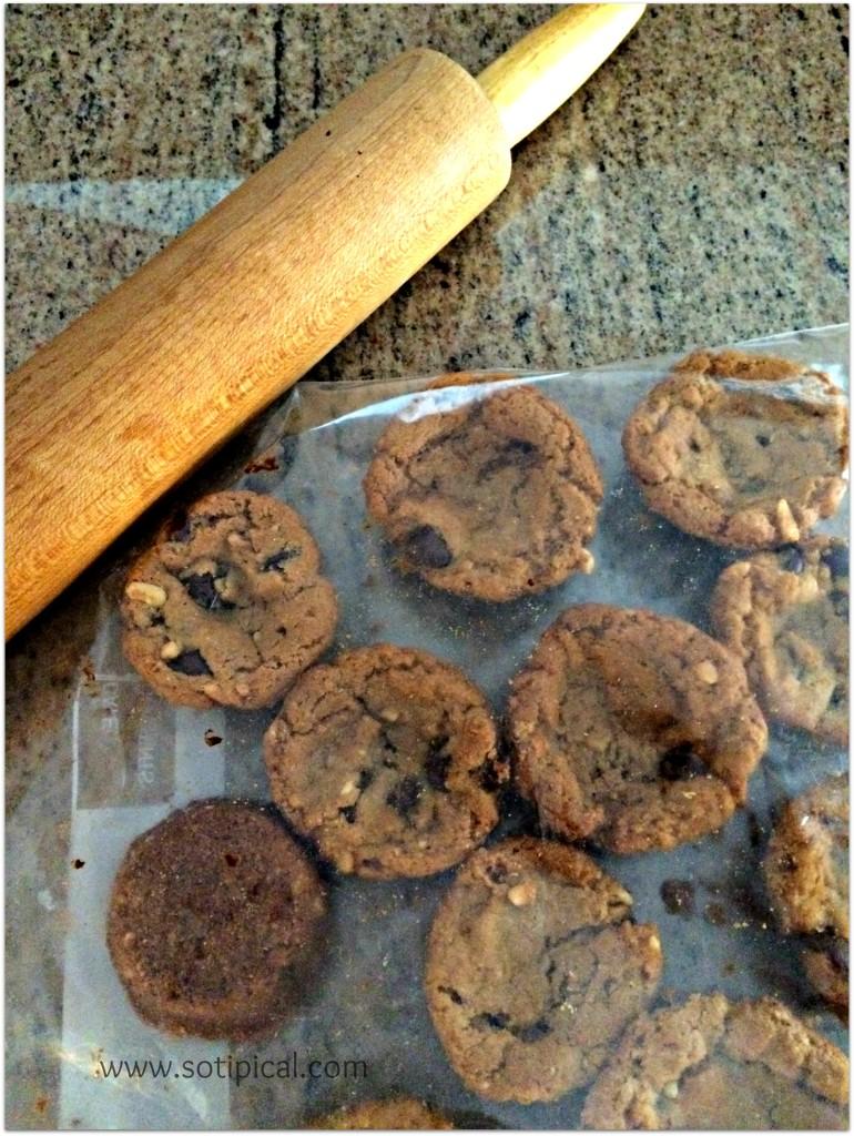 caramel peanut tart gf cookies