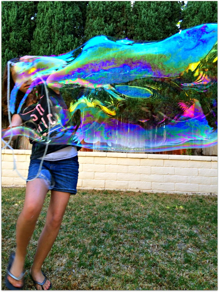 giant bubble 25 summer fun ideas