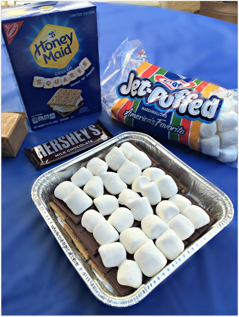smores layer 3 marshmallow