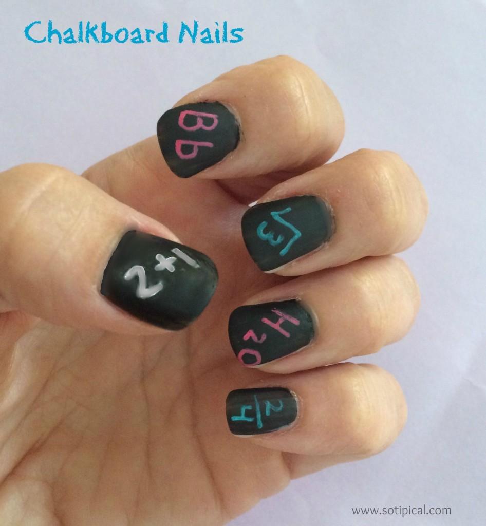 chalkboard nail art