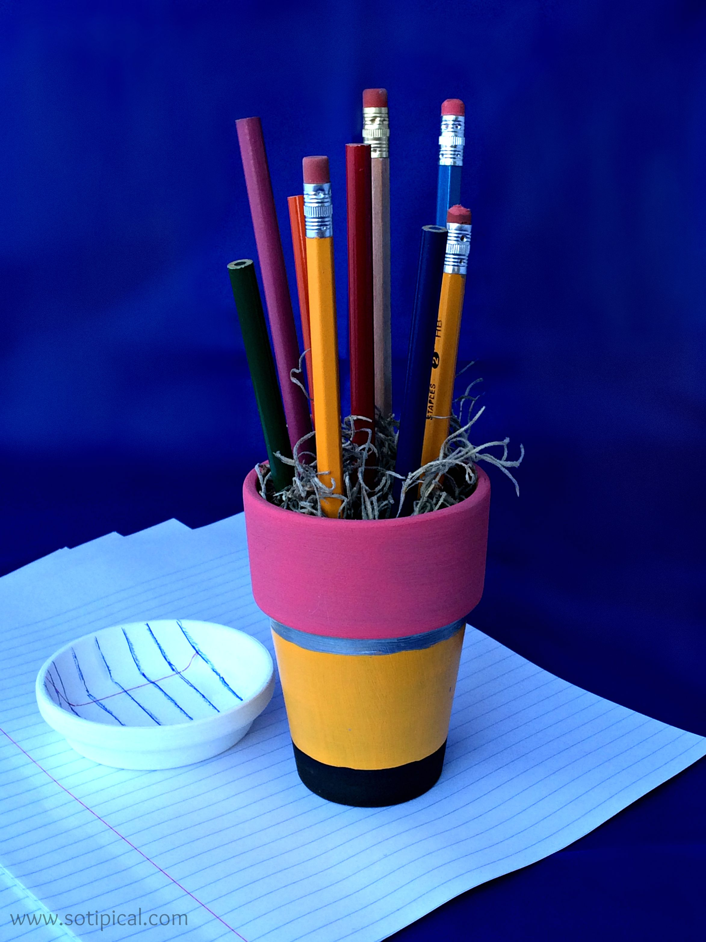 Pencil And In Color Drawing: DIY Pencil Holder