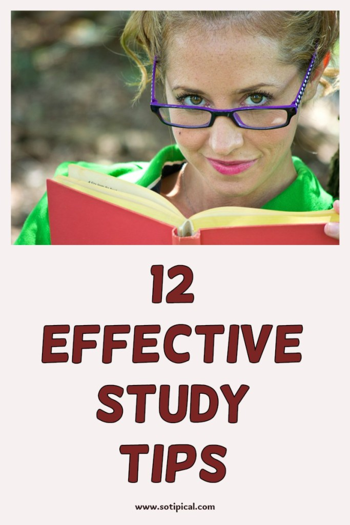 12 effective study tips pin