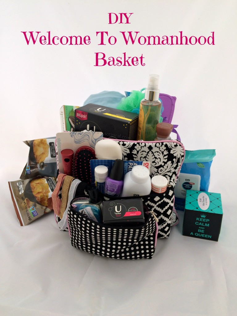 diy welcome to womanhood basket