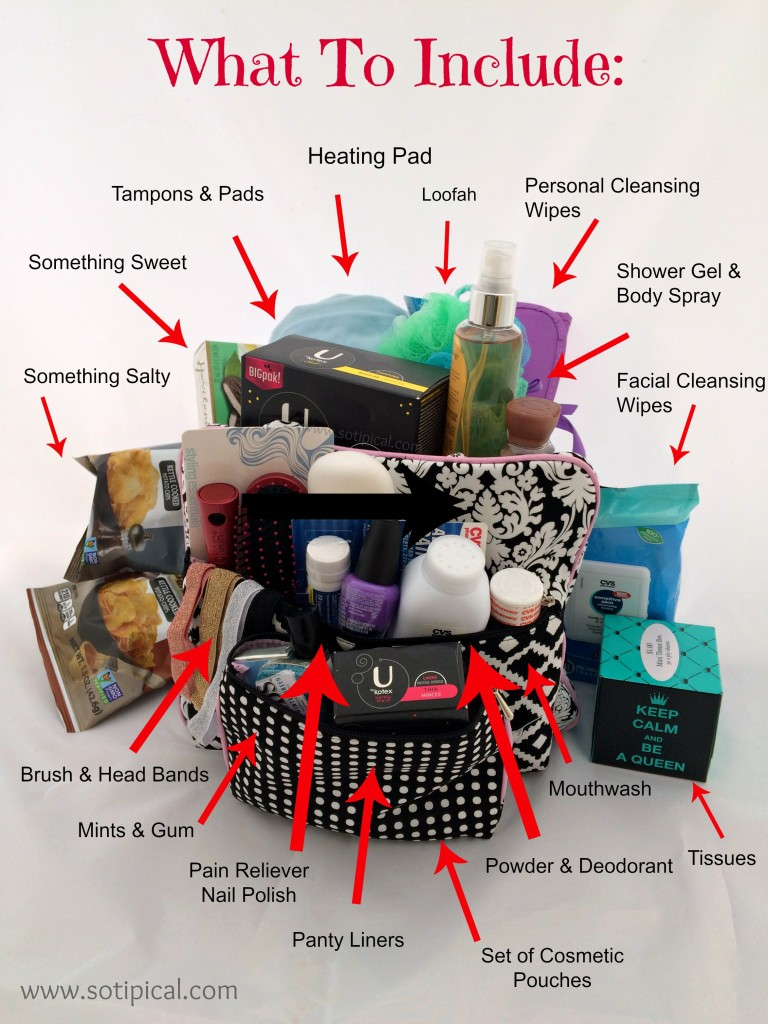 diy welcome to womanhood basket contents