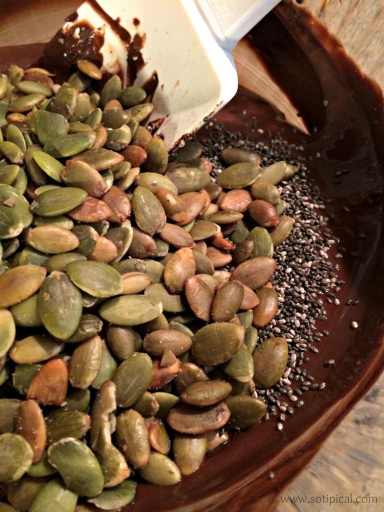 pumpkin chia bark seeds