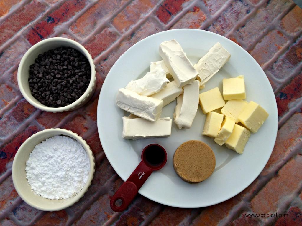 chocolate chip cheesecake dip ingredients
