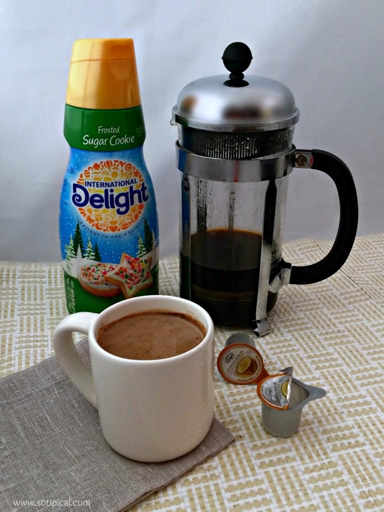 easy gingerbread oats coffee