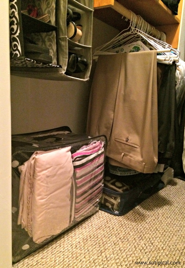 preparing for house guests closet storage