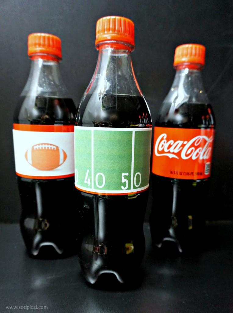 cheesy buffalo chicken bites coke bottles