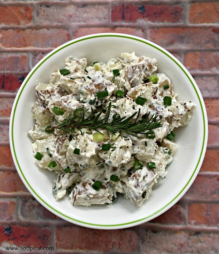 rosemary parmesan potato salad