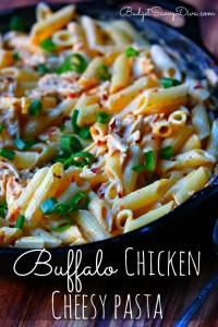buffalo chicken cheesy pasta