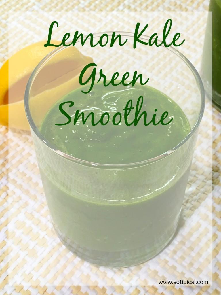 lemon kale green smoothie main