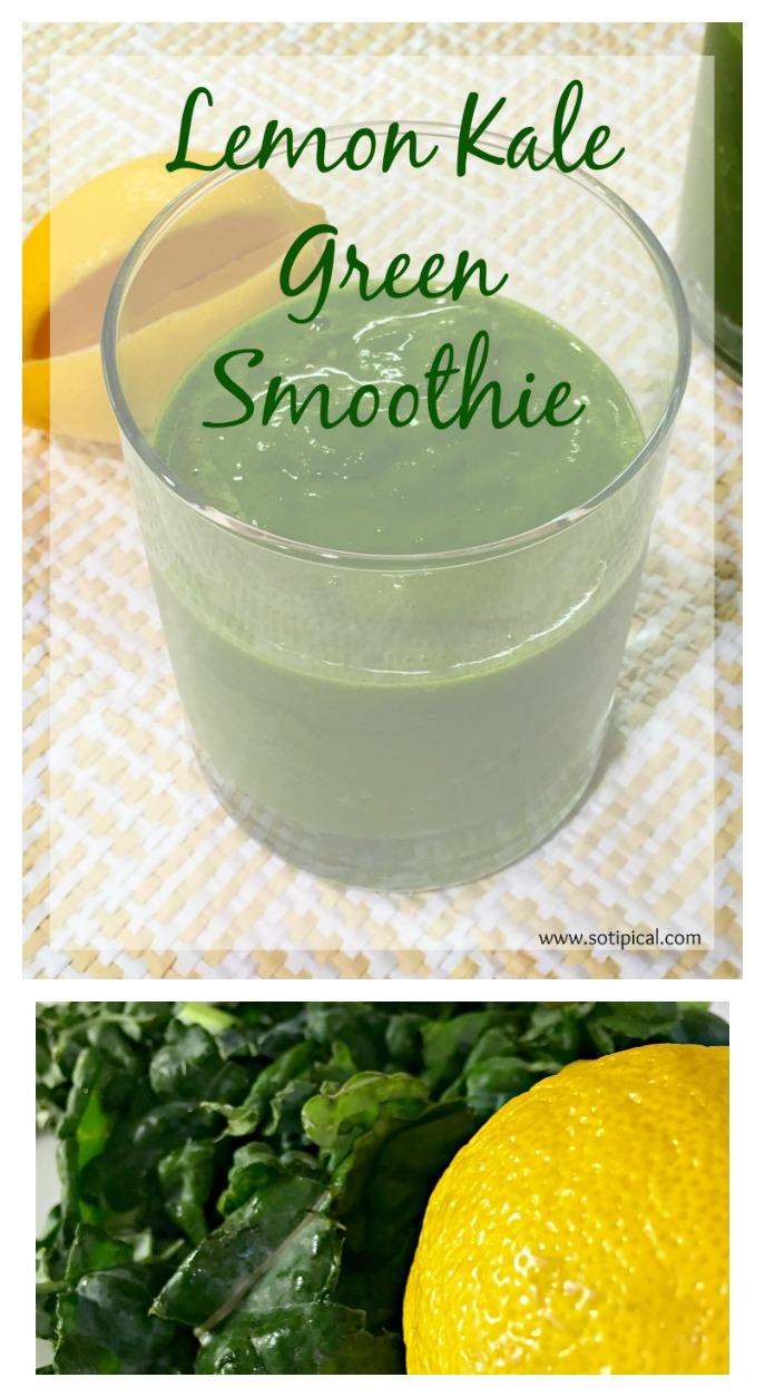Lemon Kale Green Smoothie - So TIPical Me