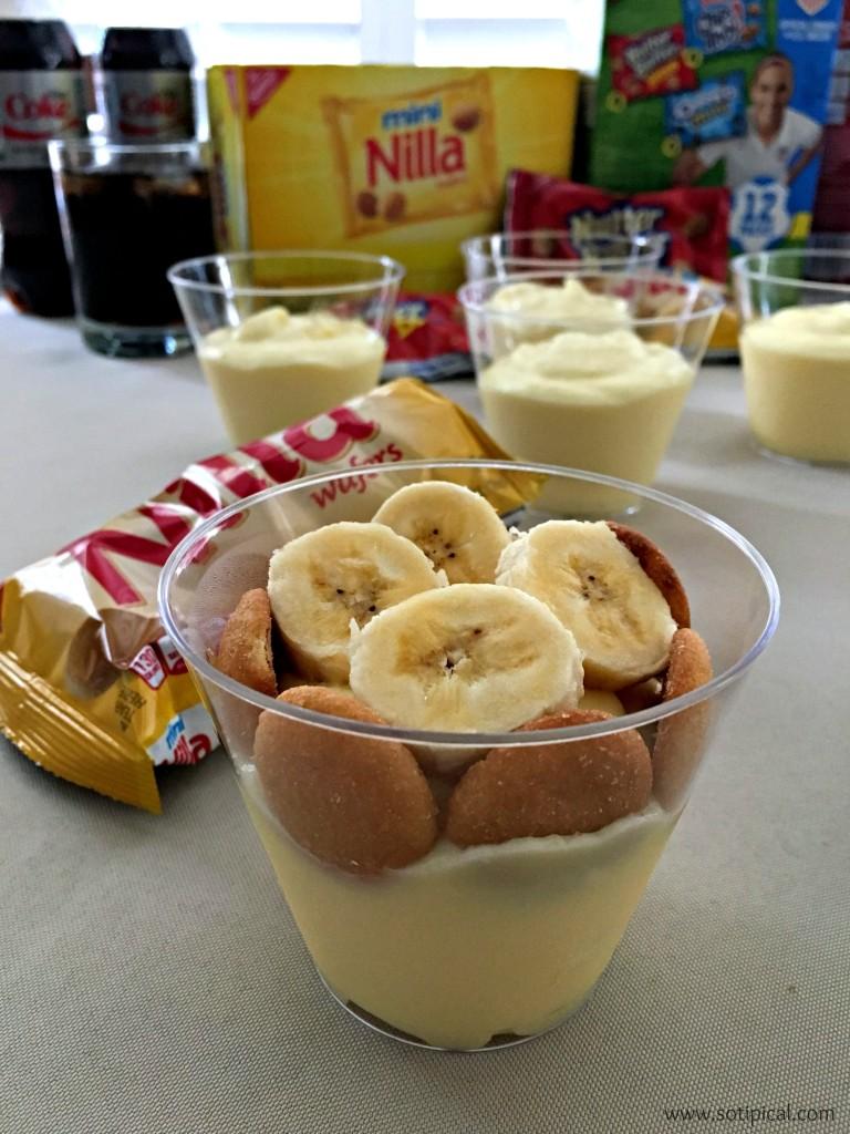 easy banana pudding assemble
