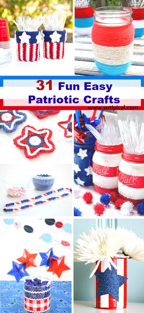31 Fun Easy Patriotic Crafts Pin