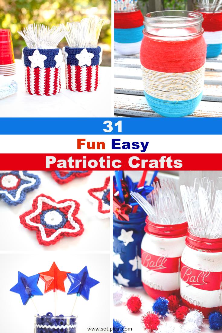 31 fun easy patriotic crafts for Fun easy quick crafts