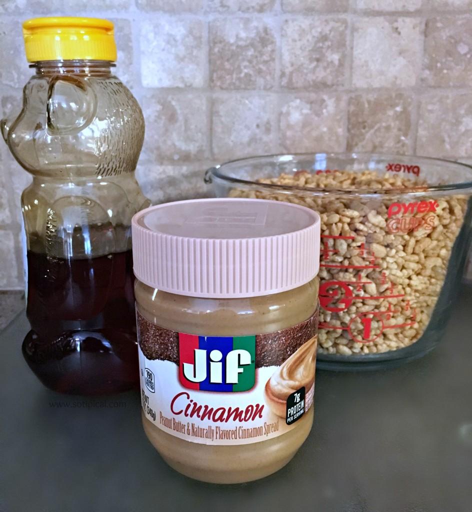 cinnamon peanut butter krispie treats