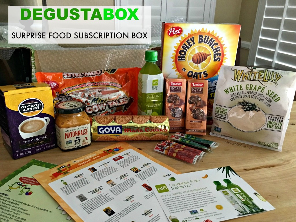 degustabox july BOX