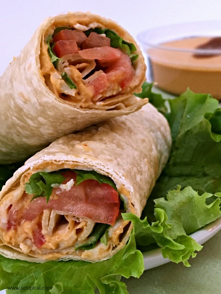 hummus spicy wrap