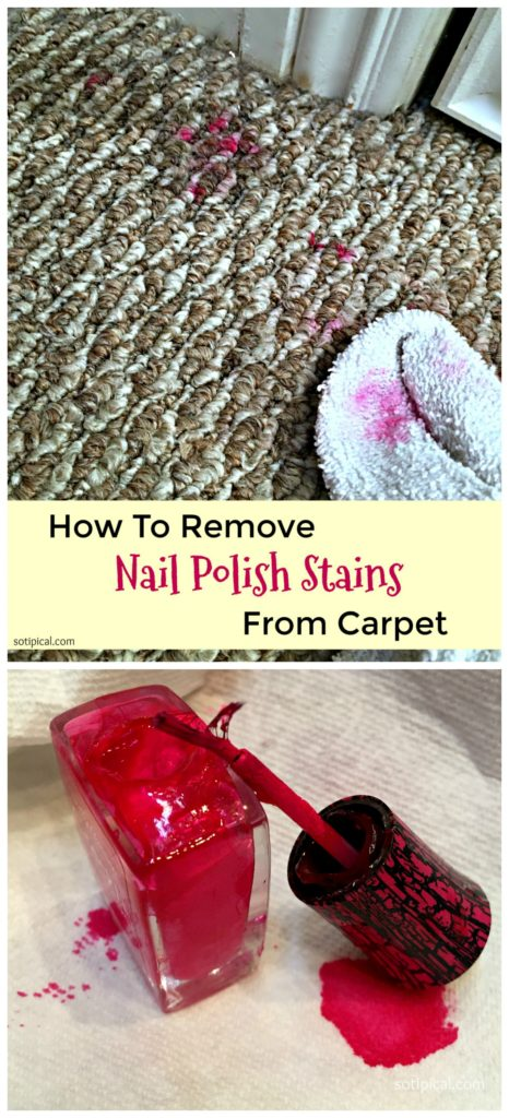 how to a remove nail polish stain from carpet so tipical me. Black Bedroom Furniture Sets. Home Design Ideas
