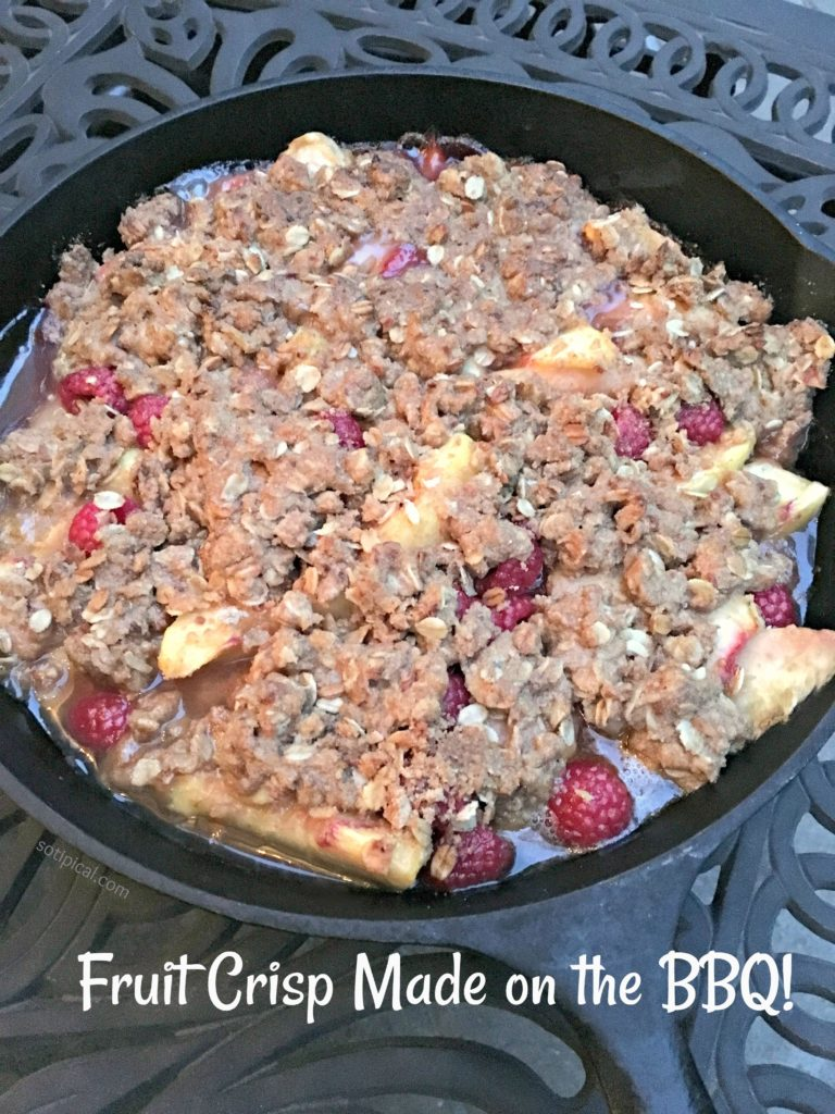 Fruit Crisp Made On The BBQ Grill