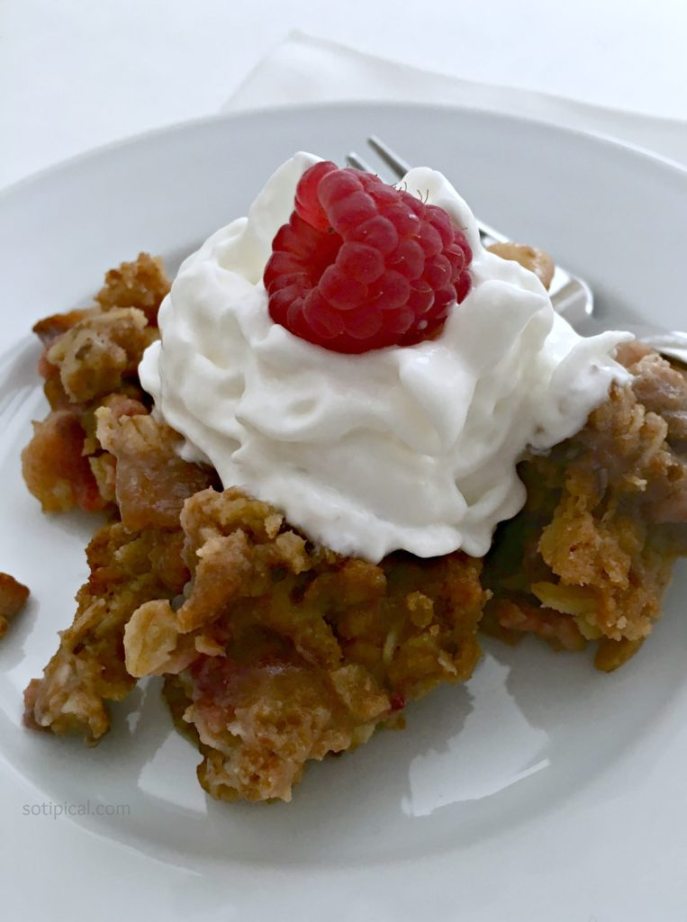Fruit Crisp Made On The BBQ Grill - So TIPical Me