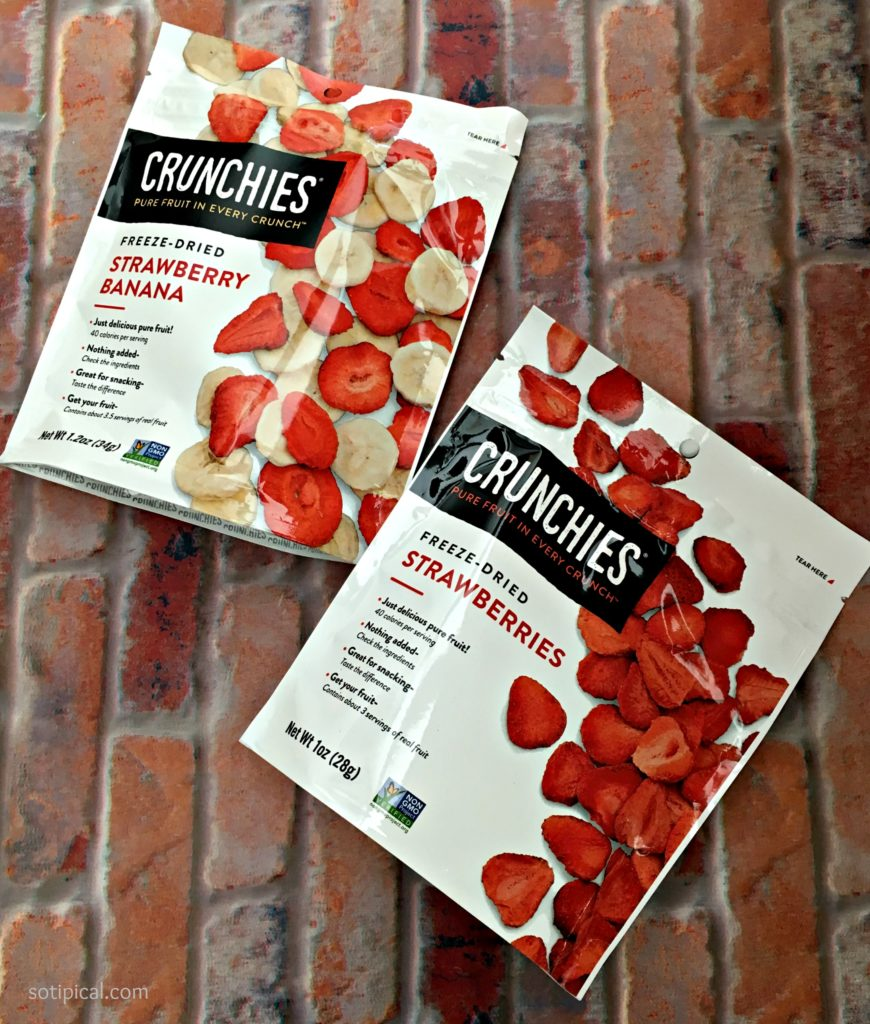 crunchies - vegan strawberry banana ice cream