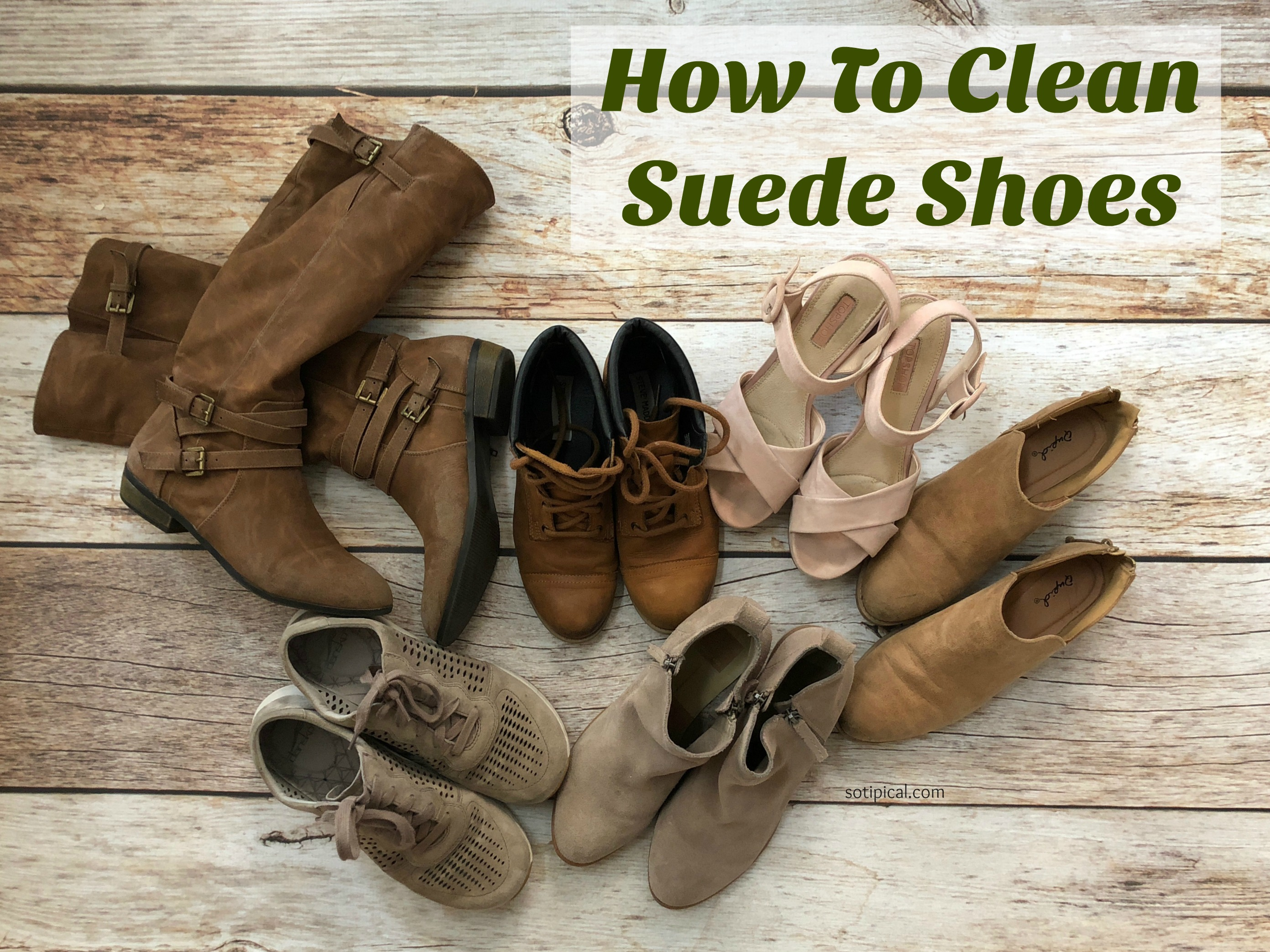 how to clean suede shoes so tipical me