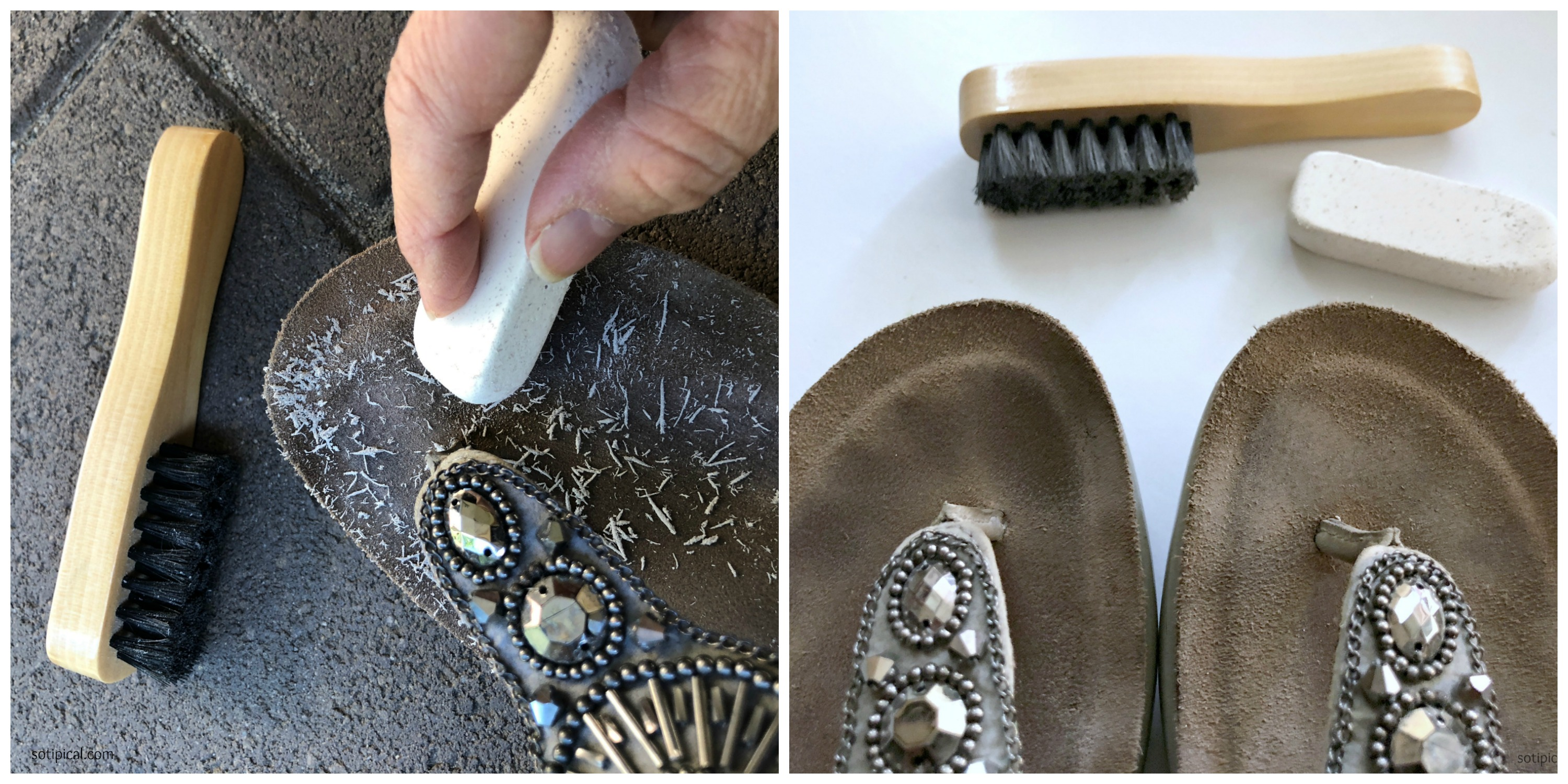 how to clean muddy shoes suede