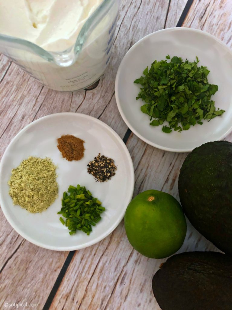 avocado dip ingredients