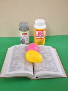 Book Page Easter Egg Supplies
