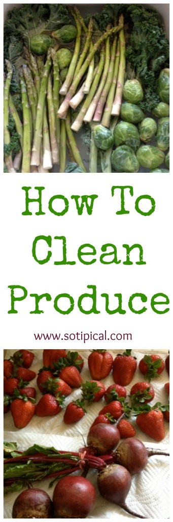 how to clean produce pinterest