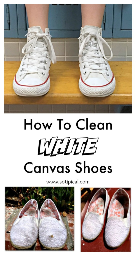 how to clean white canvas shoes pinterest