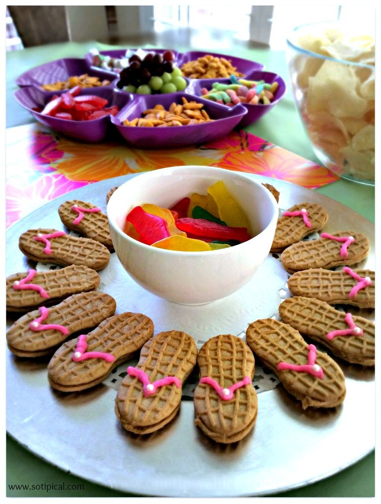 kids luau birthday party snacks
