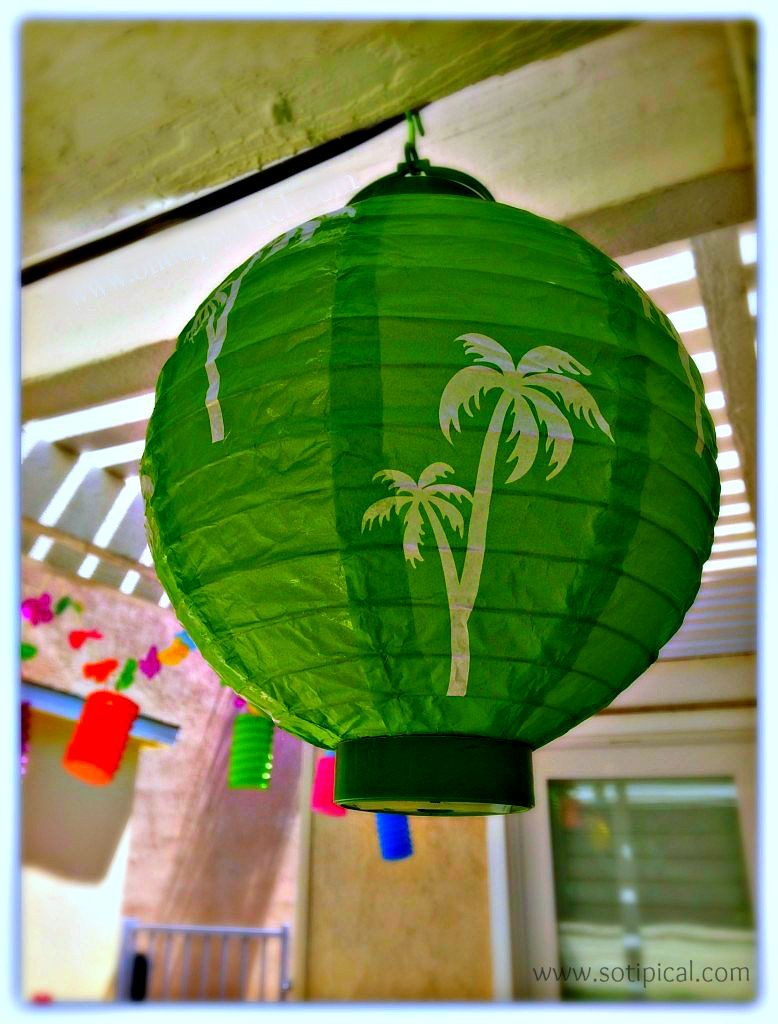 lantern luau kids birthday