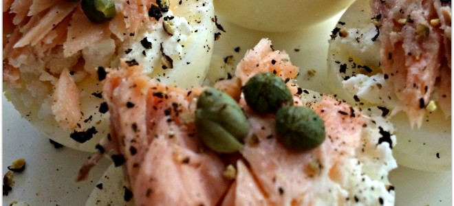 Hard Boiled Eggs With Smoked Salmon
