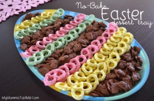 easter dessert tray