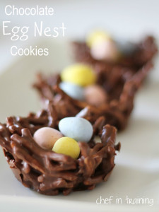 no bake chocolate egg nest