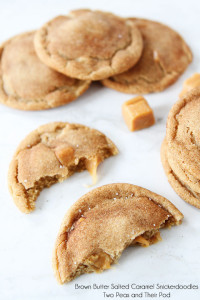 brown butter salted caramel snickerdoodles - two peas and their pod