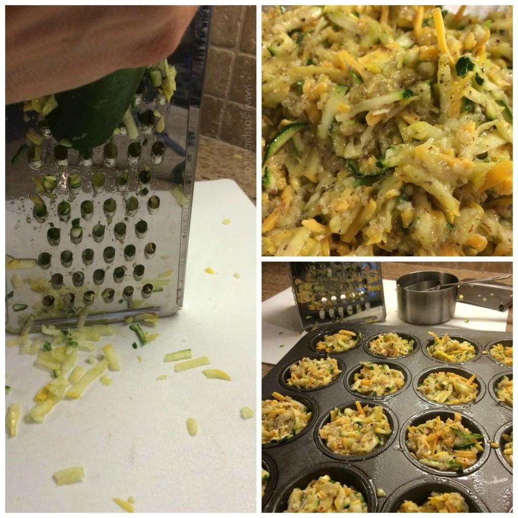 zucchini tot collage