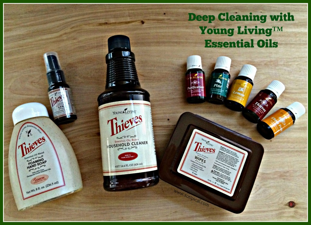 deep cleaning with young living essential oils