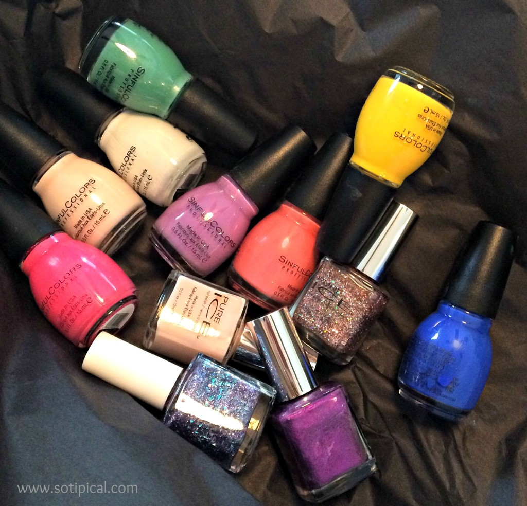 back to school nail art polish