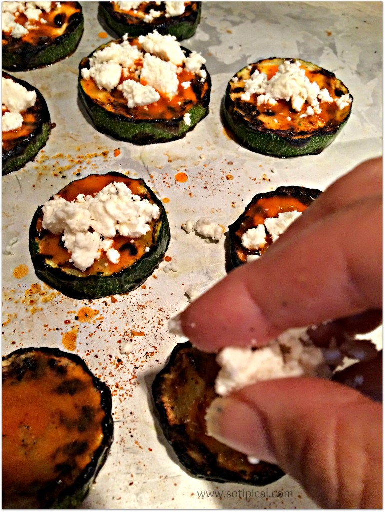 buffalo zucchini bites cheese