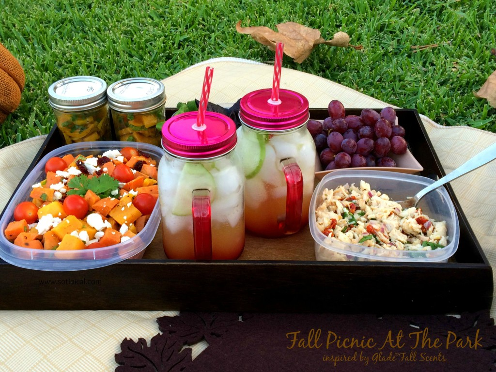 fall picnic at the park menu inspired by glad fall scents