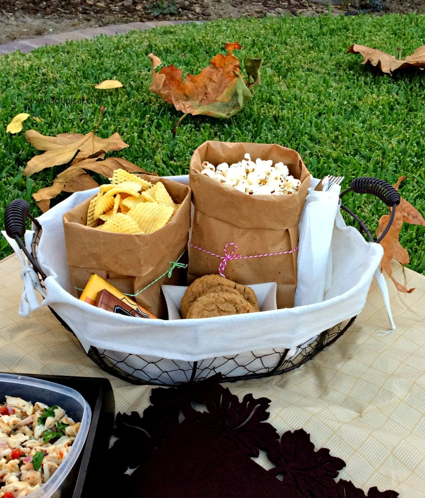 planning fall picnic at the park snacks