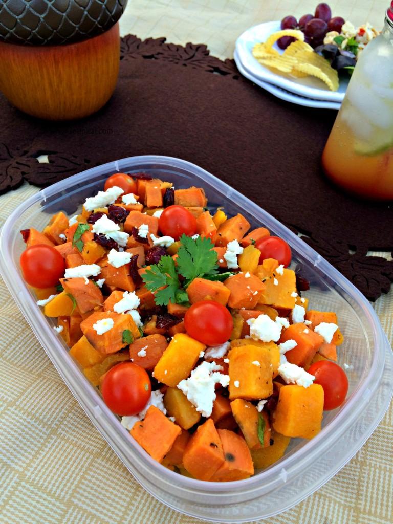 planning a fall picnic at the park sweet potato salad