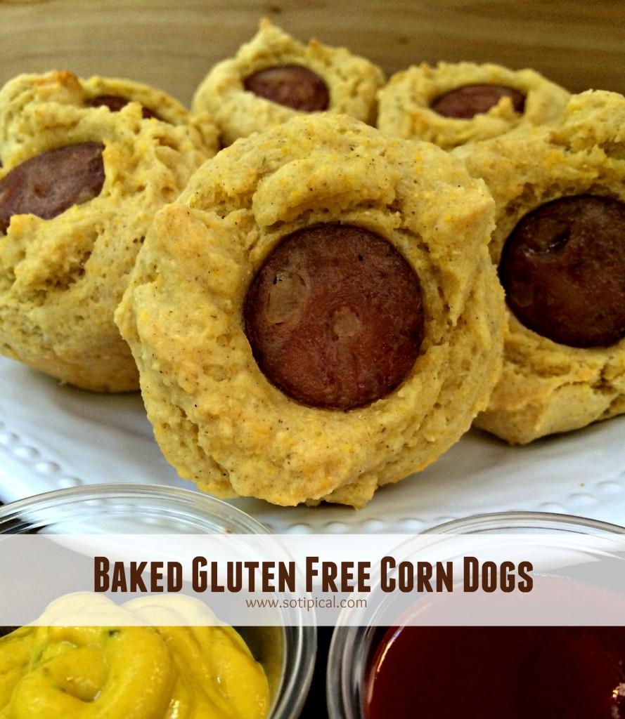 baked gluten free corn dogs main